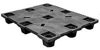 PP-S-40-NL3 40 x 48 Nestable Solid Deck Plastic Pallet