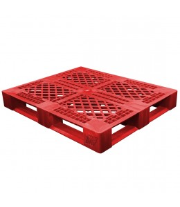 40 x 48 Rackable Stackable FDA Pallet - Red - Polymer Solutions Progenic 6  OWS PP-O-40-R5FDA-Red Repose Top