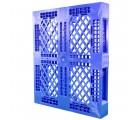 40 x 48 Rackable Stackable FDA Pallet - Blue w/Lip - Polymer Solutions Progenic 6 w/Lip  OWS PP-O-40-R5FDA-Blue-L Standing 3-4