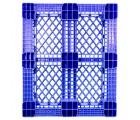 40 x 48 Rackable Stackable FDA Pallet - Blue w/Lip - Polymer Solutions Progenic 6 w/Lip  OWS PP-O-40-R5FDA-Blue-L Standing Bottom HeadOn