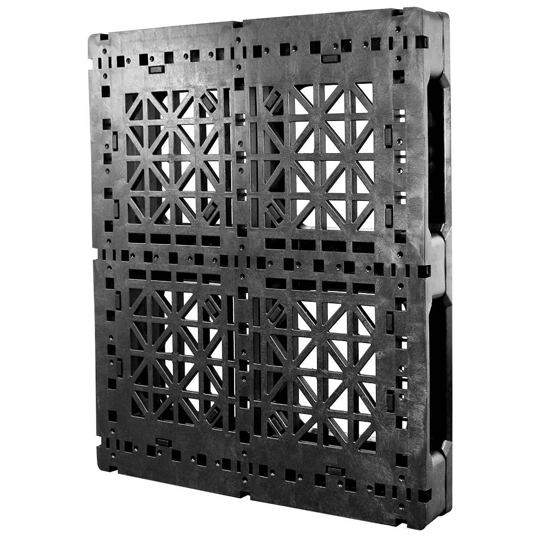 Fire Resistant Reinforcement : Heavy duty rackable plastic pallet w fiberglass