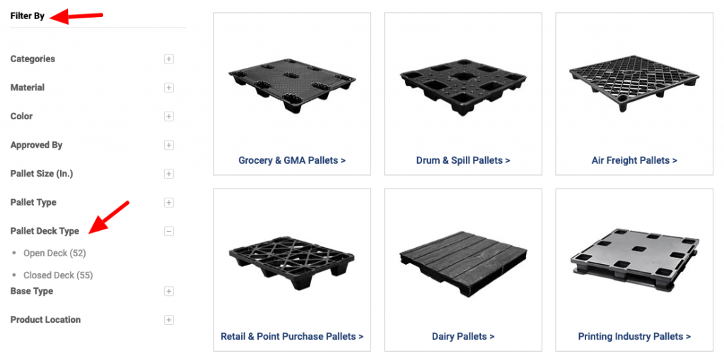 Our Pallet Product Filters