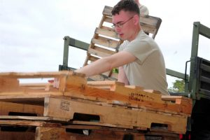 Wood Pallets In Action