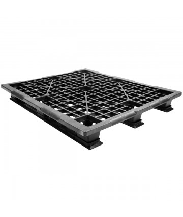 40 x 48 Stackable Light Duty Plastic Pallet 3 Runner Unassembled OWS PP-O-40-SL7 Repose Top