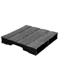 30 x 30 Stackable Solid-Deck Plastic Pallet - Black - PPC ppc3030-3 OWS PP-S-3030-RC Repose Top