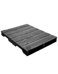 36 x 48 Heavy Duty Solid-Deck Rackable Plastic Pallet - Plastic Pallet Creations ppc3648-3 OWS PP-S-3648-RC Repose Top