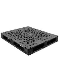 40 x 48 Heavy Duty Rackable Plastic Pallet w/ 5 Fiberglass Reinforcing Rods + Freezer Additive + Fire Retardant GS.48.40.005-FR-FA PP-O-40-R2.005-FR-FA Repose Top
