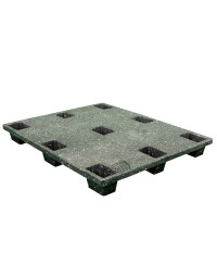 40 x 48 Nestable Solid Deck Plastic Pallet - Rotational Molding of UT The Grizzly OWS PP-S-40-NM1 Repose Top