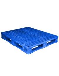40 x 48 Rackable FDA Plastic Pallet - Polymer Solutions ProGenic 6_ Blue OWS PP-O-40-R4FDA Repose Top