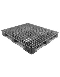 40 x 48 Stackable FDA Approved Plastic Pallet - Grey - Polymer Solutions ProGenic-LD OWS PP-O-40-S4FDA-Grey Repose Top