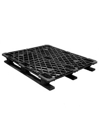 40 x 48 Stackable Ex-Pal 4 Plastic Pallet - Unassembled - Cabka CPP 103 ACM OWS PP-O-40-RL4 Repose Top