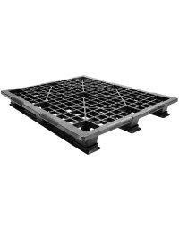 40 x 48 Stackable Light Duty Plastic Pallet 3 Runner Assembled OWS PP-O-40-SL7A Repose Top
