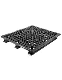 40 x 48 Stackable Mid-Duty Plastic Pallet 3 Runner Assembled OWS PP-O-40-SM7A Repose Top