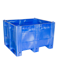 40 x 48 x 31 Solid Wall 3 Runner Blue Container Bin Decade Full MACXAce Solid Blue 3 Runner LS Bin OWS CP-S-40-FA-Blue