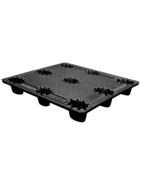 42 x 48 Nestable Solid Deck Distribution Plastic Pallet - Trienda DC4-4248 OWS PP-S-42-NT3 Repose Top
