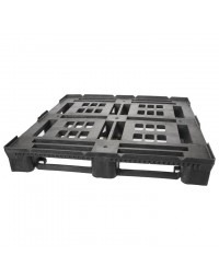45 x 48 Heavy Duty Stackable Plastic Pallet - Intermittent Perimeter Lip Greystone R4845-IL OWS PP-O-45-SD-IL Repose Top