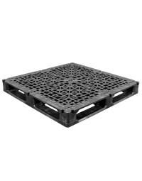 48 x 48 Rackable Stackable Reinforced Plastic Pallet - 5 Rods - Greystone OS.48.48.005 OWS PP-O-48-R2.005 Repose Top