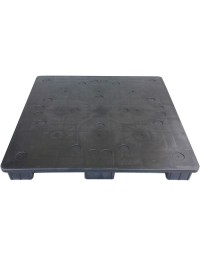 48 x 48 Solid Deck 9 Leg Stackable Plastic Pallet - RPM 4848 OWS PP-S-48-S Repose Top