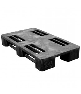 24 x 40 Rackable Plastic Pallet - Greystone D2440 OWS PP-O-2440-R Repose Top