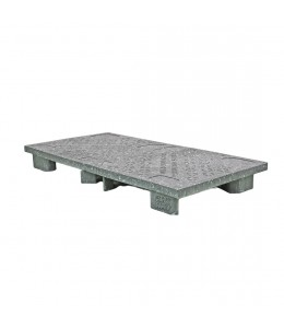 24 x 48 Ares Solid Deck Plastic Display Pallet - Rotational Molding of UT #Ares OWS PP-S-2448-S Repose Top