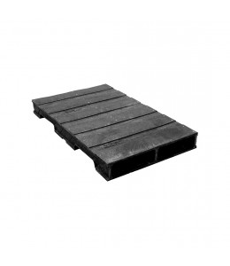 24 x 48 Heavy Duty Solid-Deck Rackable Plastic Pallet - OWS PP-S-2448-RC - ppc-2448-4B3SF-SS Repose Top