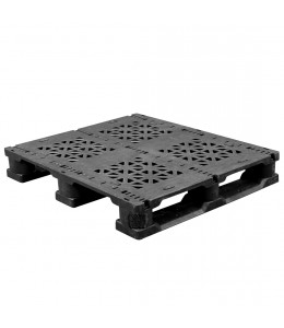 32 x 37 Rackable Plastic Pallet 3 Metal Rods - Greystone GS.37.32.3R3 OWS PP-O-3237-R.003 Repose Top