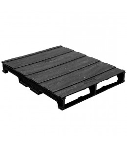 32 x 40 Stackable Solid-Deck Plastic Pallet - Black - PPC ppc3240-3 OWS PP-S-3240-RC Repose Top