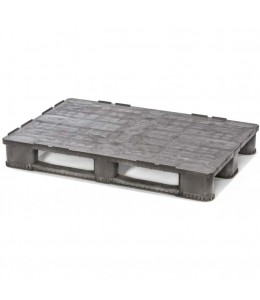 32 x 48 Rackable Solid Deck Plastic Pallet - Cabka IPS Endur E7 (CD-3R) OWS PP-S-32-E7 Repose Top_1