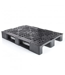32 x 48 Rackable Stackable Plastic Euro Pallet With Lip- 3 Runner Plasgad RMP 1200 x 800 OD (With Lip) OWS PP-O-3248-RMP-L Repose - Top