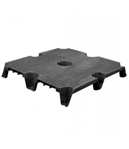 36 x 36 Nestable Solid Deck Cut Plastic Pallet CTC 3636-CTC-C OWS PP-S-3636-NG Repose Top