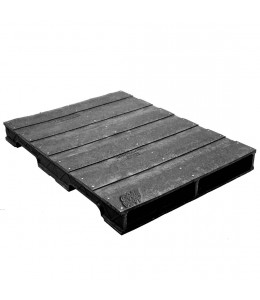 36 x 48 Heavy Duty Solid-Deck Rackable Plastic Pallet - Plastic Pallet Creations ppc3648-3 OWS PP-S-3648-RC Repose Top