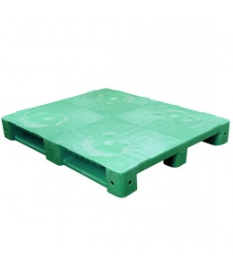 40 x 48 Green Stackable Plastic FDA Pallet - Decade PNH2001BL OWS PP-S-40-S5FDA-Green Repose Top