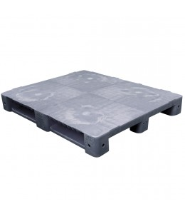 40 x 48 Grey Rackable Plastic FDA Pallet - Decade PNH2001BL OWS PP-S-40-S5FDA-Grey Repose Top