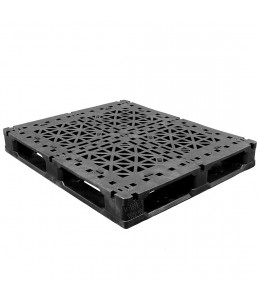 40 x 48 Heavy Duty Rackable Plastic Pallet w_ 3 Fiberglass Reinforcing Rods - Fire Retardant - Greystone GS.48.40.003-FR OWS PP-O-40-R2.003-FR Repose Top