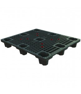 40 x 48 Neptune Nestable Mid-Duty Plastic Pallet with Safety Lip Plasgad PG4840 w/Lip OWS PP-O-40-NM8-L Repose Top