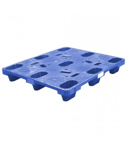 40 x 48 Nestable Heavy Duty Plastic Pallet - Blue OWS PP-S-4048-N-PS-Blue NDP Polymer Solutions Nestable Distribution Pallet - Blue Repose - Top