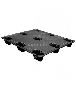 40 x 48 Nestable Light Duty Solid Deck Plastic Export Pallet - Trienda DC1-4048NLT OWS PP-S-40-NT2 Repose Top