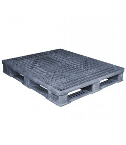 40 x 48 Rackable FDA Plastic Pallet - Polymer Solutions ProGenic 6_Grey OWS PP-O-40-R4FDA-Grey Repose Top