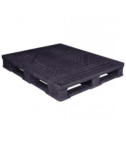 40 x 48 Rackable Fire Retardant Plastic Pallet - Polymer Solutions ProGenic 6_ Black Fire Retardant OWS PP-O-40-R4FM Repose Top
