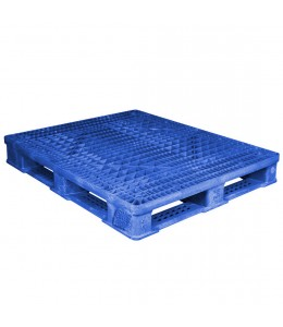 40 x 48 Rackable FM Fire-Retardant Plastic Pallet - Blue - Polymer Solutions Progenic 6 Blue Fire Retardant OWS PP-O-40-R4FM- Blue - Repose Top