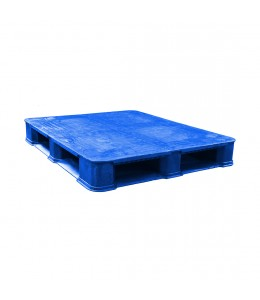 40 x 48 Rackable Plastic FDA Approved Solid Plastic Pallet - Blue - Polymer Solutions 8301 OWS PP-S-40-R7FDA-Blue repose top(1)