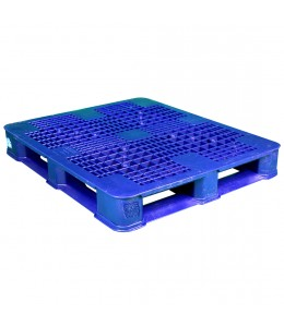 40 x 48 Rackable Plastic FDA Pallet - Blue w/ Lip - Polymer Solutions DLR OWS PP-O-40-R7FDA-Blue-L Repose Top