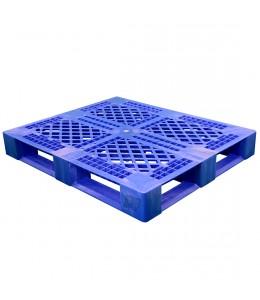 40 x 48 Rackable Stackable FDA Pallet - Blue w/Lip - Polymer Solutions Progenic 6 w/Lip  OWS PP-O-40-R5FDA-Blue-L Repose Top