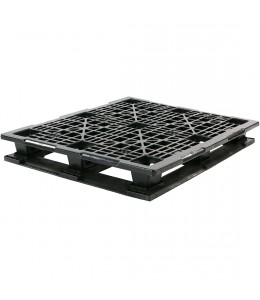 40 x 48 Rackable Stackable Mid-Duty 6 Runner Plastic Pallet - Assembled - PP-O-40-RX7A - Repose Top