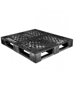 40 x 48 Rackable Picture Frame Plastic Pallet w/Safety Lip - Black - Decade DP4840L Black OWS PP-O-40-R5-L Repose Top