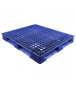 40 x 48 Stackable Fire Retardant Plastic Pallet - Blue - Polymer Solutions ProGenic-LD OWS PP-O-40-S4FM-Blue Repose Top