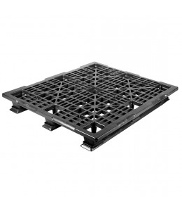 40 x 48 Stackable Mid-Duty Plastic Pallet With Lip 3 Runner Assembled OWS PP-O-40-SM7A-L Repose Top