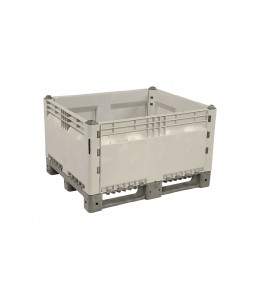 40 x 48 x 28 Collapsible Plastic Container Bin - OWS CP-S-40-C Decade Full KitBin Repose Top