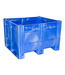40 x 48 x 31 Solid Wall 3 Runner Blue Container Bin Decade Full MACXAce Solid Blue 3 Runner LS Bin OWS CP-S-40-FA-Blue