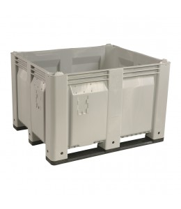 40 x 48 x 31 Solid Wall Container Bin Decade Full MACX Solid Gray LS Bin OWS CP-S-40-F-Grey